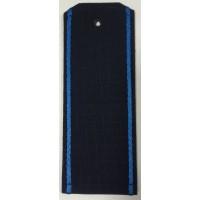 Погоны офисные синие с голубым кантом пластик