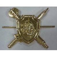 Эмблема петличная Военная полиция без венка золото метал