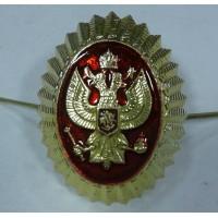 Овал с гербом золото метал