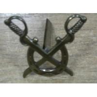 Эмблема петличная Казачья Подкова золото латунь