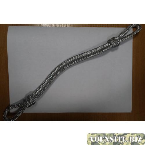 Филигранный ремень серебряный капроновый