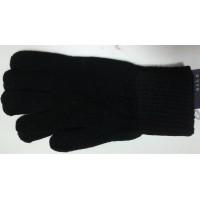 Перчатки п/ш черного цвета одинарные