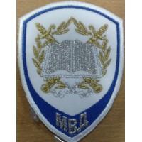 Шеврон Следственные органы МВД для слушателей на рубашку белый вышитый