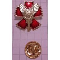 Знак Сова с мечом на красном