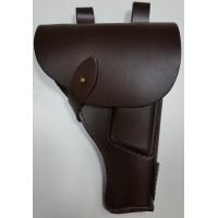 Кобура поясная штатная к пистолету ТТ кожаная, формованная