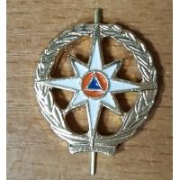 Эмблема петличная МЧС с просечкой золото металл