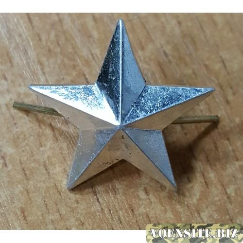 Звезда 20 мм металл серебро