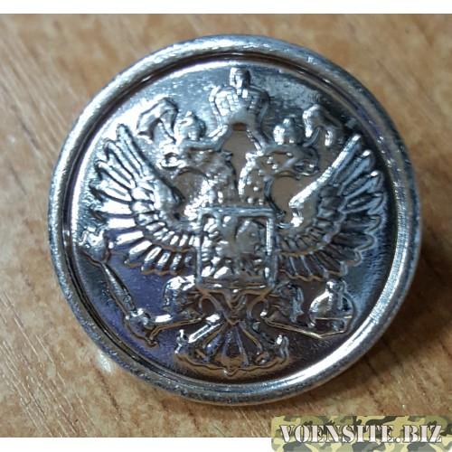 Пуговица большая металл серебро с ободком