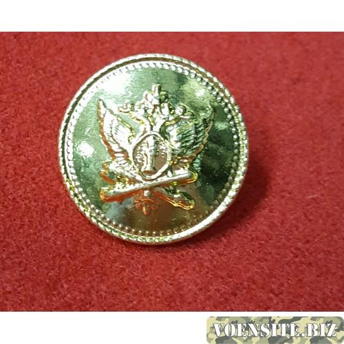 Пуговица большая металл золотая с эмблемой
