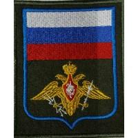 Шеврон Орел с флагом вышитый принадлежности к ВКО прямоугольный