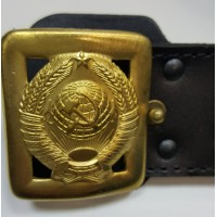 Ремень генеральский без подклада бляха литая герб