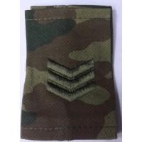 Фальшпогоны сержанта камуфлированные расцветка Флора вышитые зеленой нитью