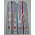 Погоны Полиции рубашка с вышитыми золотом звездами капитан без канта