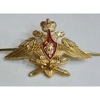 Эмблема на тулью фуражки ВКС металл золото