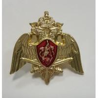 Знак орел Росгвардии золото метал малый