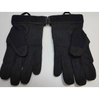 Перчатки из искусственной замши черного цвета