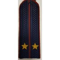 Погоны ФСИН повседневные вышитые звездами лейтенант