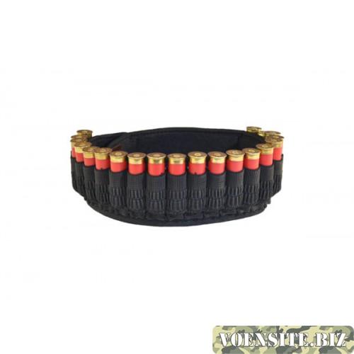 Патронташ открытый текстильный на 20 патронов с сумкой К-12,20 (гофрированная резинка)