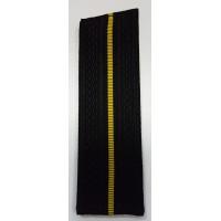 Погоны ВМФ младшего офицерского состава с желтым просветом со скосом