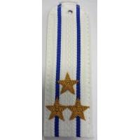 Погоны юстиции парадные белые вышитыми золотом звездами полковник