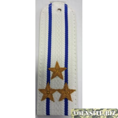Погоны юстиции с вышитыми золотом звездами полковник на белую рубашку