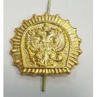 Эмблема петличная кадетское образование без венка золото металл