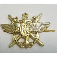 Эмблема петличная ВОСО золото металл