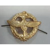 Эмблема петличная ВОСО золото металл с венком