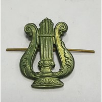 Эмблема петличная военно-оркестровые служба без венка защита металл