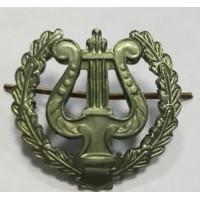 Эмблема петличная военно-оркестровые служба с венком защита металл