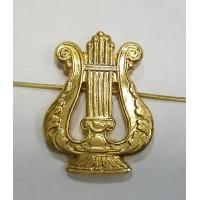 Эмблема петличная военно-оркестровые служба без венка золото металл
