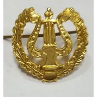 Эмблема петличная военно-оркестровые служба с венком золото металл