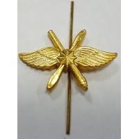 Эмблема петличная ВКС со звездой золото металл