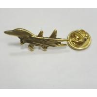 Знак Самолет золотого цвета малый