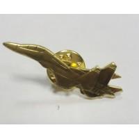 Знак Самолет золотого цвета