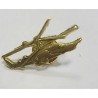 Знак Вертолет золотого цвета большой