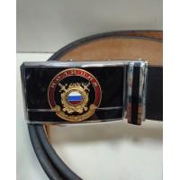 Ремень поясной брючный застежка автомат с сувенирной пряжкой Полиция МВД Общественная безопасность