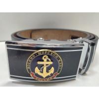 Ремень поясной брючный застежка автомат с сувенирной пряжкой Военно Морской флот