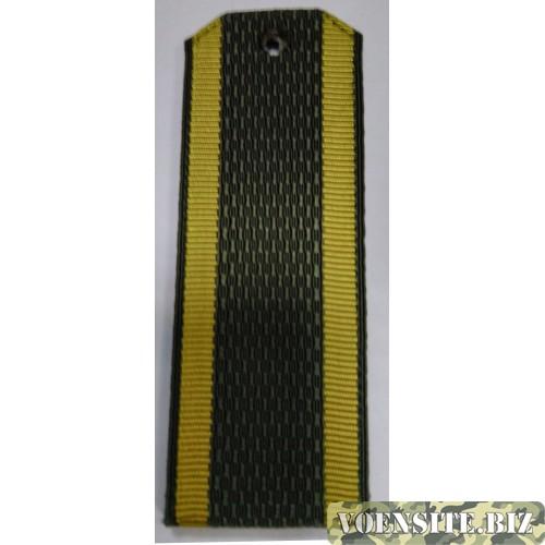 Погоны ВС курсанта с желтыми полосами без буквы К