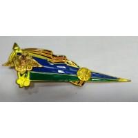 Знак угол большой триколор орел ВДВ метал золото
