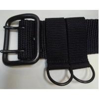 Ремень тактический брезентовый текстильный черный