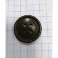 Пуговица 20 мм четырехдырная оливкового цвета