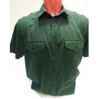 Рубашка оливкового цвета офисная короткий рукав ткань Рип-стоп