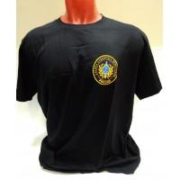 Футболка трикотаж черного цвета с накатом на спине ФССП