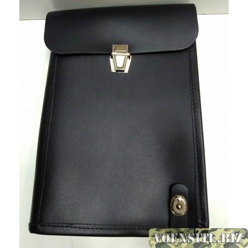 Сумка полевая офицерская планшет черного цвета
