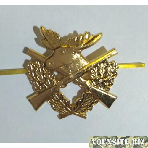 Кокарда Егеря золото металл