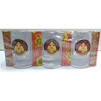 Набор стаканов стеклянных с сувенирным жетоном МЧС