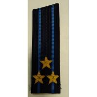 Погоны ВВС вышитыми золотом звездами подполковник со скосом