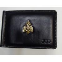 Зажим кожаный для денег с жетоном Министерство чрезвычайных ситуаций