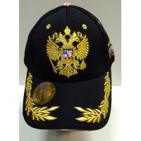 """Кепка - Бейсболка черная с желтым """"герб"""""""